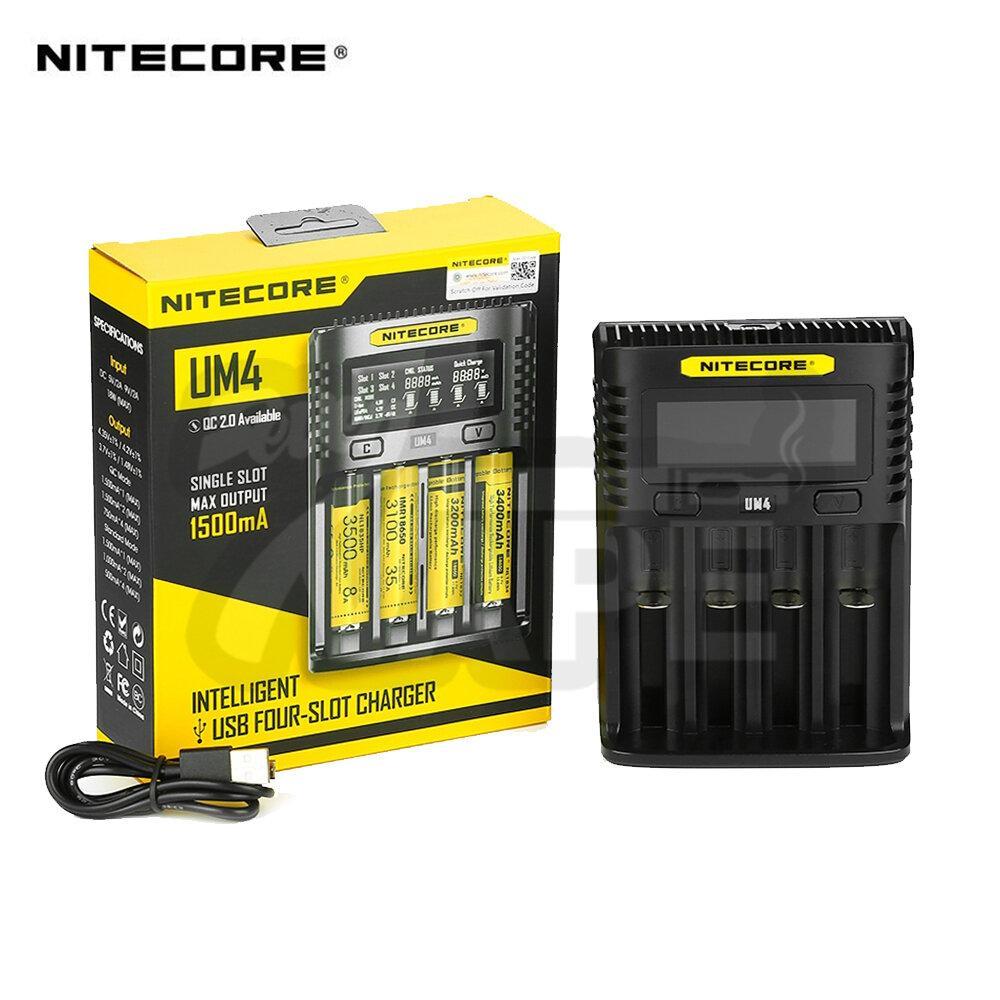 เครื่องชาร์จถ่าน Nitecore UM4 Charger 4 ช่อง ชาร์จแบบ USB [ แท้ ]