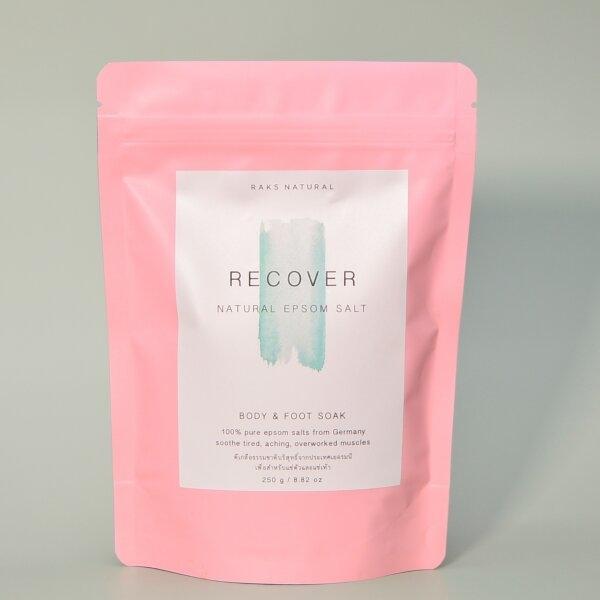 Recover Pure Natural Epsom Salt 250g. ดีเกลือฝรั่ง แช่ตัว แช่เท้า ธรรมชาติ 100%  จากประเทศเยอรมัน