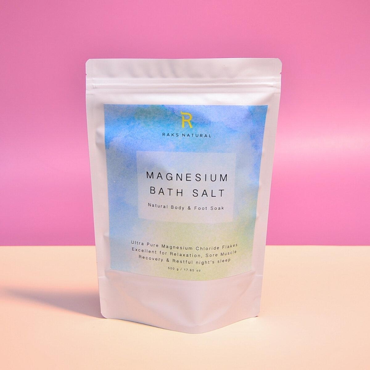 Pure Magnesium Bath Salt for Bath & Foot Soak