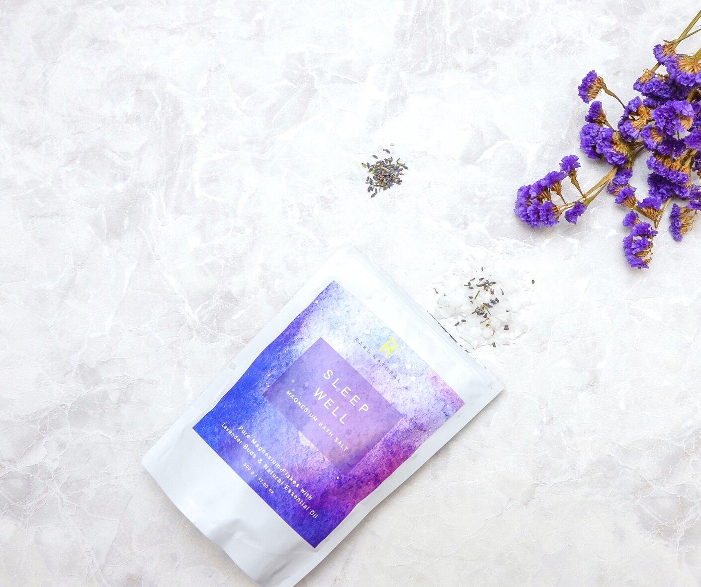 Sleep Well Magnesium Bath Flakes with Lavender Buds & Pure Essential Oil