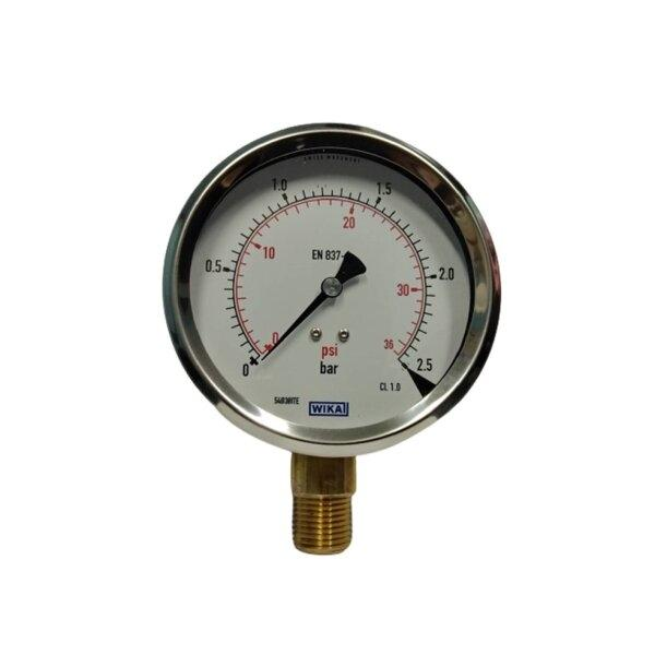"Wika Pressure Gauge 4"" (0-2.5 Bar)"