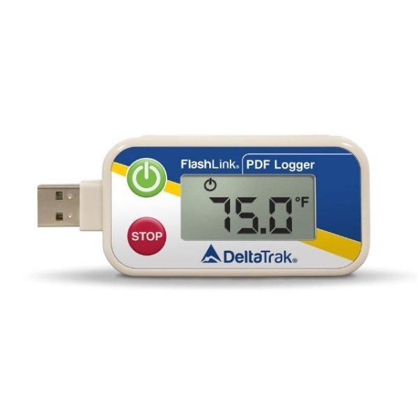 บันทึกอุณหภูมิ Delta Trak FlashLink USB PDF Data Logger รุ่น40510