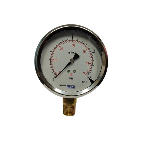 "Wika Pressure Gauge 4"" (0-4Bar)"