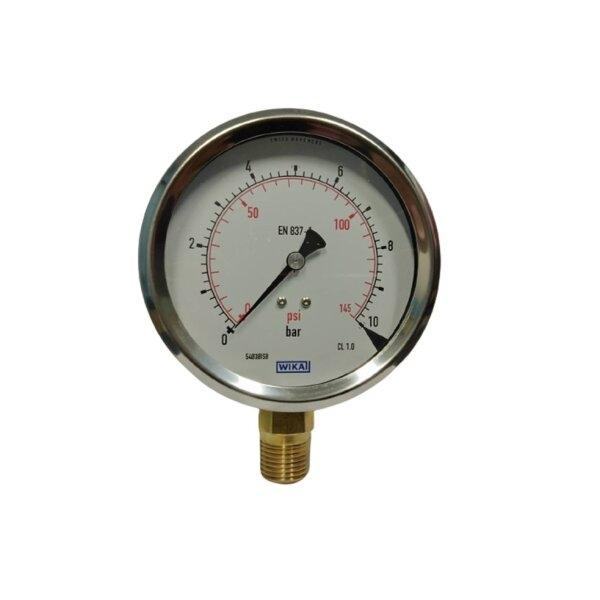 "Wika Pressure Gauge 4"" (0-10Bar)"
