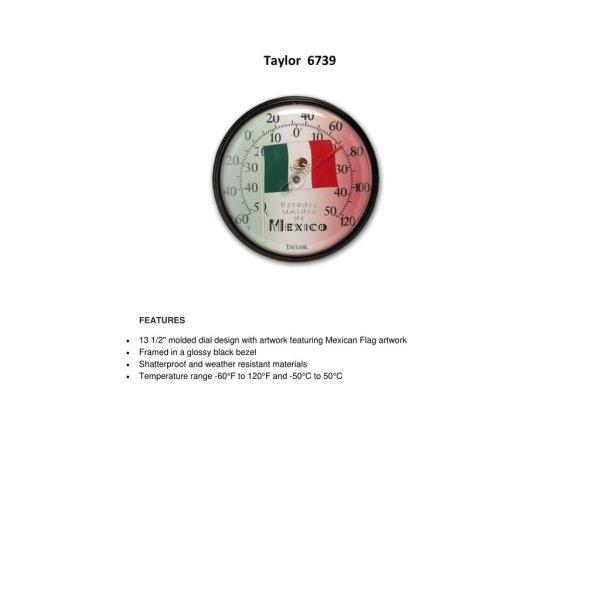 วัดอุณหภูมิ Taylor Dial Thermometer รุ่น 6739