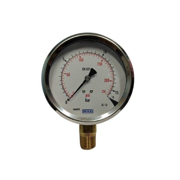 "Wika Pressure Gauge 4"" (0-16Bar)"