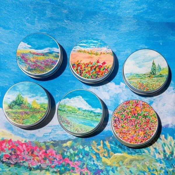 candle (soy wax) - dancing flowers