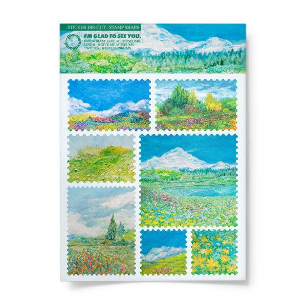 sticker - landscape stamp ii
