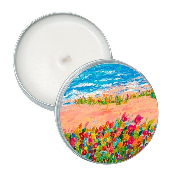 candle(soy wax) - Dancing flowers