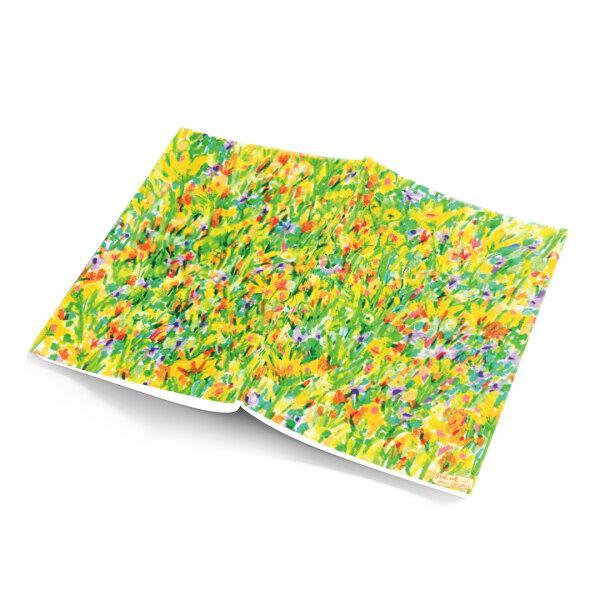 notebook - yellow garden