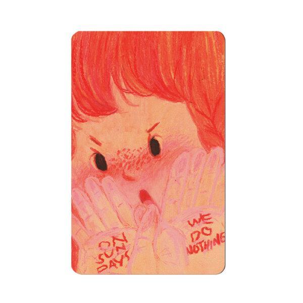 card sticker - on sunday we do nothing