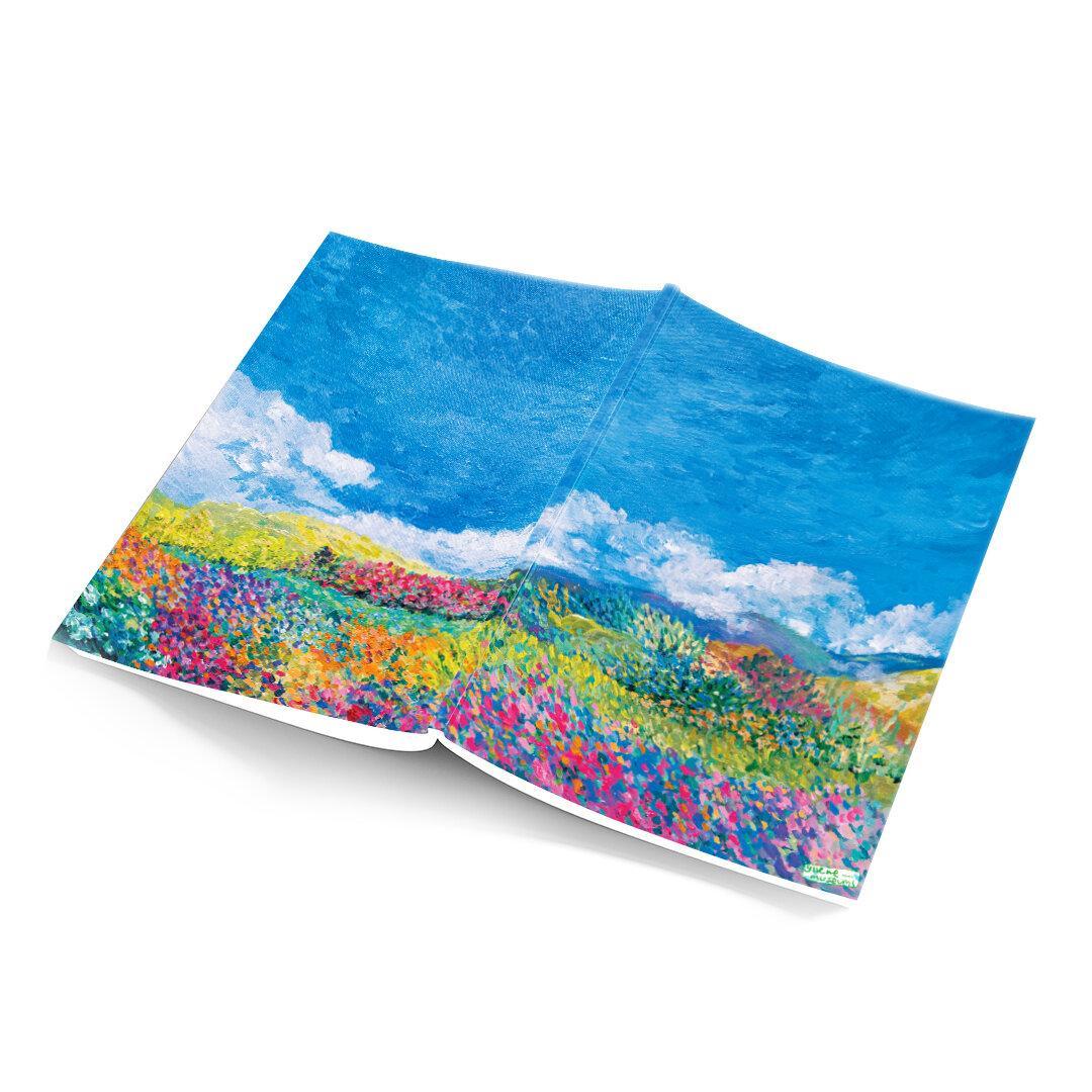notebook - flowerfield