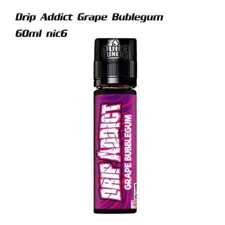 Drip addict grape bubblegum 60ml nic6 | น้ำยาบุหรี่ไฟฟ้า