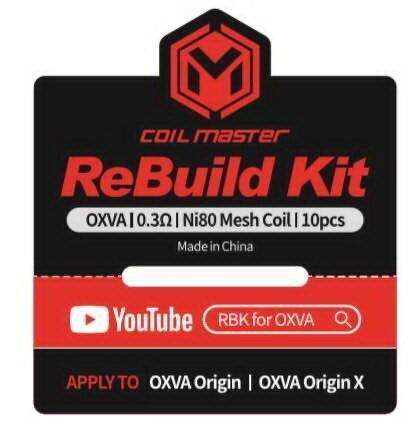 F Coil Master ReBuild RBK Kit สำหรับ OXVA Origin , OXVA Origin X