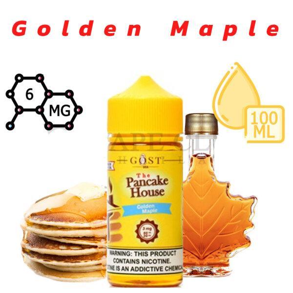 V [น้ำยาบุหรี่ไฟฟ้า] Gost The Pancake House Freebase  - Golden Maple Nic6 100ml [ไม่เย็น]