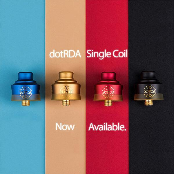 DotMod DotRDA Single Coil 22mm [CLONE] สีดำ