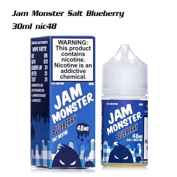 [น้ำยา POD Salt Nic USA] Jam Monster Blueberry (ฟ้า) 30ml Nic48 (ไม่เย็น)