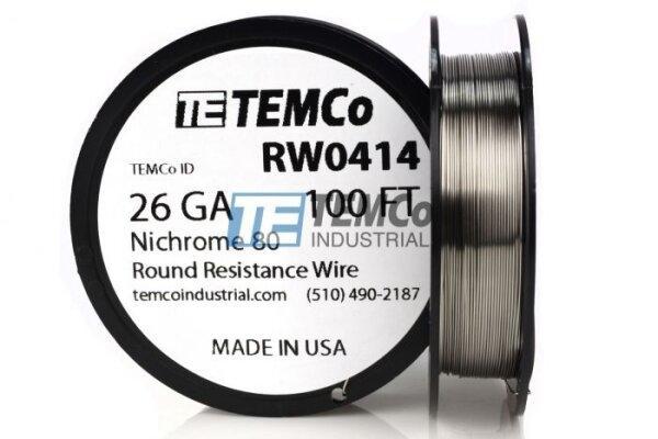 V ลวด USA TEMCo Wire Ni80 100ft