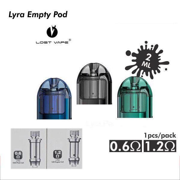 [พอดเปล่าแท้งเปล่า] Lyra Empty Pod 1 กล่อง 1 ชิ้น พร้อมคอยล์ 2 อัน