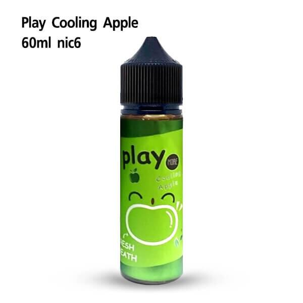 น้ำยามาเลเซีย Play Cooling Apple 60ml นิค6 [เย็น]
