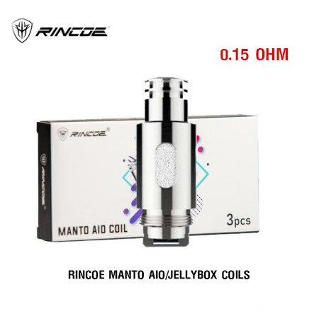 F Rincoe Manto AIO/Jellybox Coils 0.15 ohm  (1กล่อง3 ชิ้น)