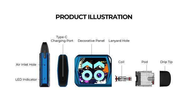 F บุหรี่ไฟฟ้า Uwell Caliburn Koko Prime Pod Kit [แท้]