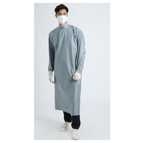 เพื่อทันตแพทย์ 3.1 : ชุดคลุมกันน้ำคอปีน สีเทา MG01 31 GY