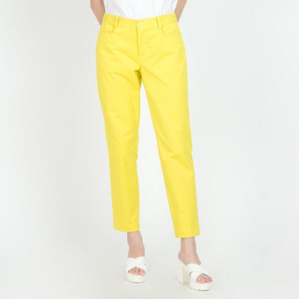C&D ซีแอนด์ดี Pants กางเกงขายาวทรงสกินนี่ เนื้อผ้าคอตตอน สีเหลือง CU92YE