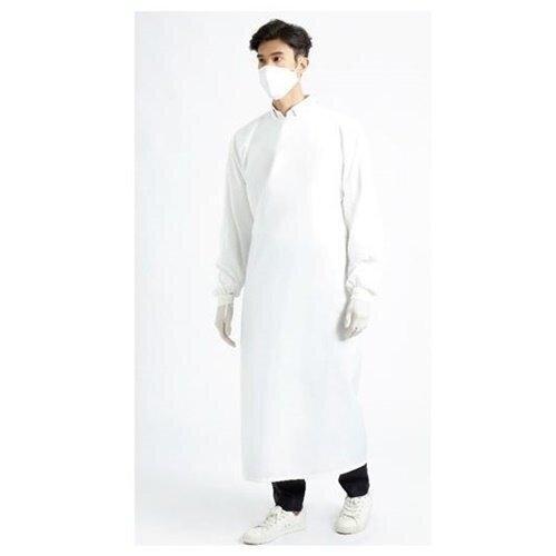 เพื่อทันตแพทย์ 2.1 : ชุดคลุมกันน้ำคอกลม สีขาว MG01 21 WH