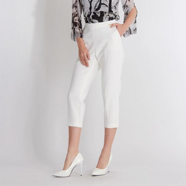 Guy Laroche Slim Crop Pants กางเกงทำงาน ขาแคบ สีขาว ปรับขาเรียว กีลาโรช GT7PWH