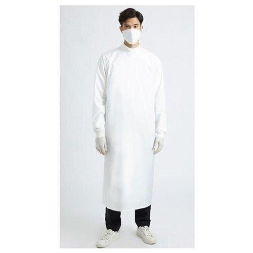 เพื่อทันตแพทย์ 3.1: ชุดคลุมกันน้ำคอปีน สีขาว MG01 31 WH