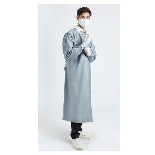 เพื่อทันตแพทย์ 2.1 : ชุดคลุมกันน้ำคอกลม สีเทา MG01 21 GY