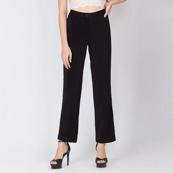 Jousse Pants กางเกงขายาว กางเกงสีดำ กางเกงทำงานเก็บทรงสวย เอวสูง ทรงตรง JV2DBL