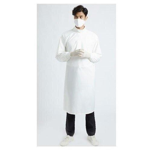 เพื่อทันตแพทย์ 4 : ชุดคลุมกันน้ำคอปีนสูง สีขาว MG01 40 WH