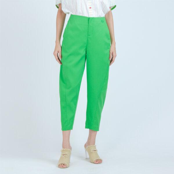 C&D ซีแอนด์ดี Pants กางเกงขายาวทรงแครอท สีเขียว เนื้อผ้าคอตตอน CV1MGR