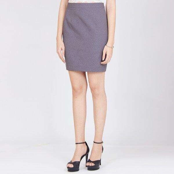 Jousse Skirt กระโปรงทำงานทรงสอบเข้ารูป สีเทา JV15DG
