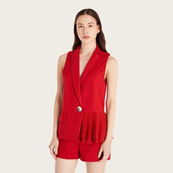 Morgan Boutique เสื้อ Vest แขนกุดสีแดง รุ่น H20-M.OLIG