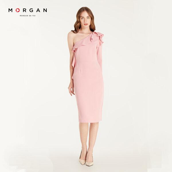 Morgan Boutique เดรสไหล่เดี่ยว สีชมพู รุ่น H20-P.PARIS