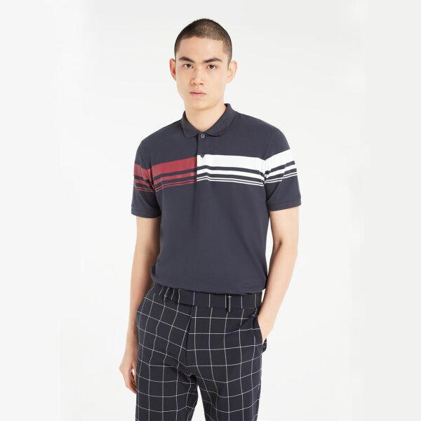 (Pre-order) Morgan Homme เสื้อโปโล Polo แขนสั้น ทรงเข้ารูป ผ้า Cotton spendex รุ่น NAZA