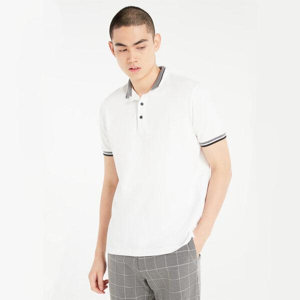 (Pre-order) Morgan Homme เสื้อโปโลทรงเข้ารูป ปกทรงสปอร์ต รุ่น URIK สีกรมท่า และ สีขาว