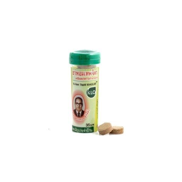 Khaolaor ขาวละออ ยาหอมเทพจิตร 24 หลอด/กล่อง (หลอดละ 15 เม็ด)