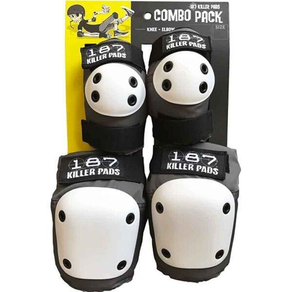 187 Combo Pack Knee & Elbow Pad Set - Grey