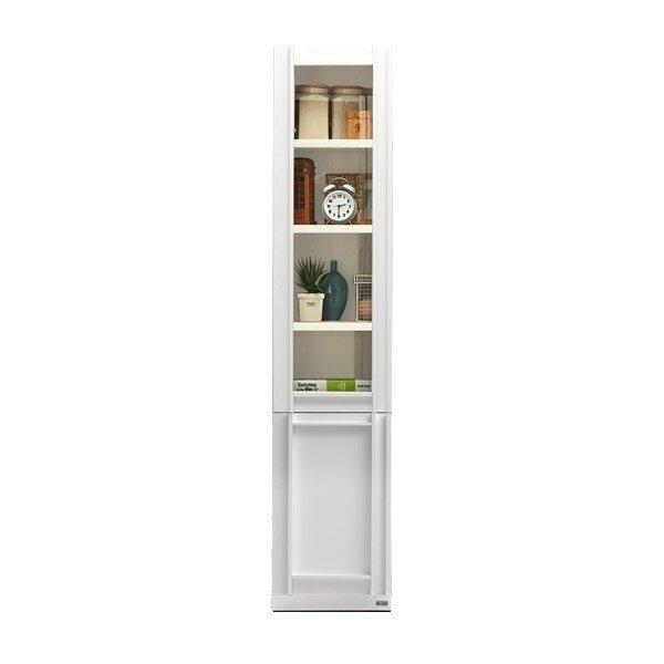 ตู้โชว์ ขนาด 40 ซม. รุ่น Lybrary ขาว