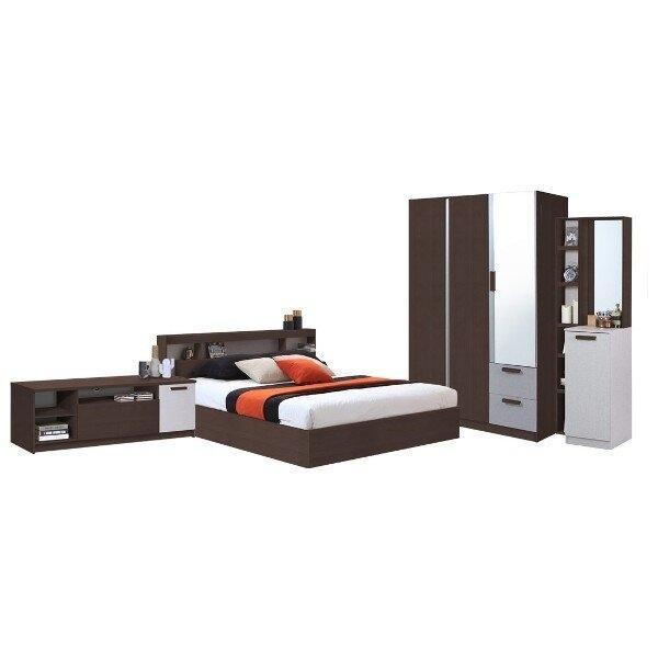 ชุดห้องนอน มอริส Moriz 5 ฟุต สีเวงเก้