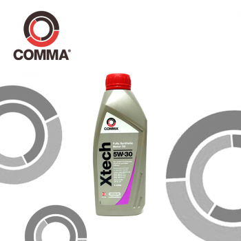 Comma XTECH 5W30 น้ำมันเครื่องฟูลลี่ซินเดอติก, SAE 5W-30, API SL/CF, 1 Litre