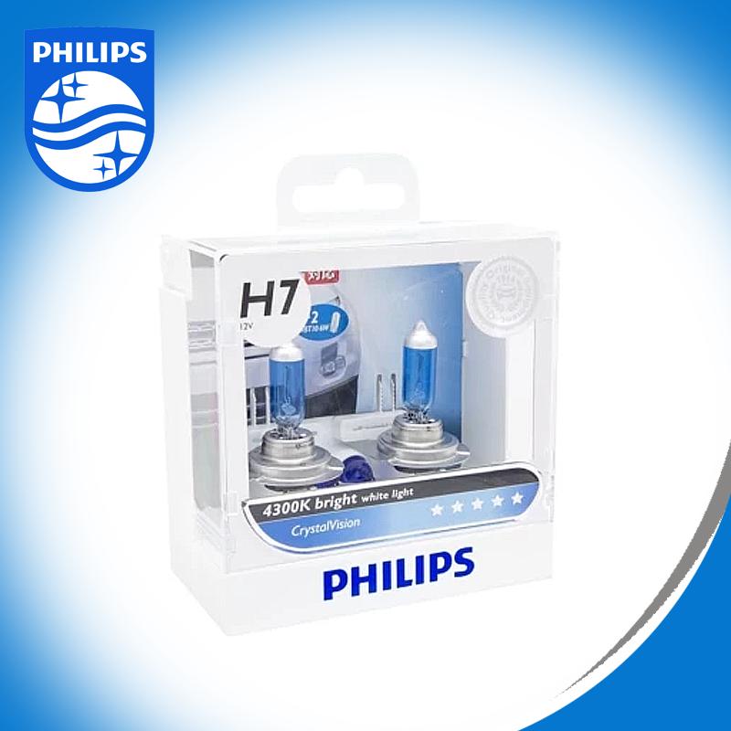Philips หลอดไฟ รถยนต์ H7 รุ่น CRYSTAL VISION แสง 4300K รหัส 12972 CV SMA