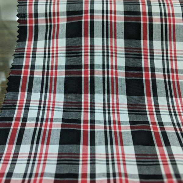 Cotton Check Shirt Fabric