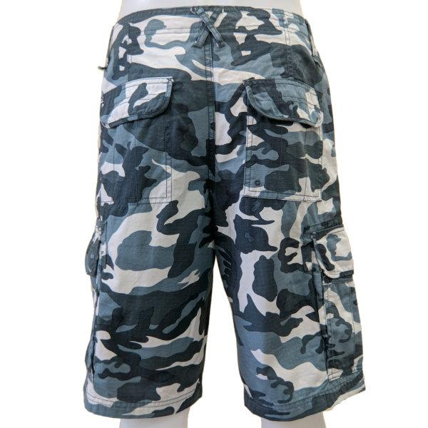 Cargo Shorts - Blue and White Camo