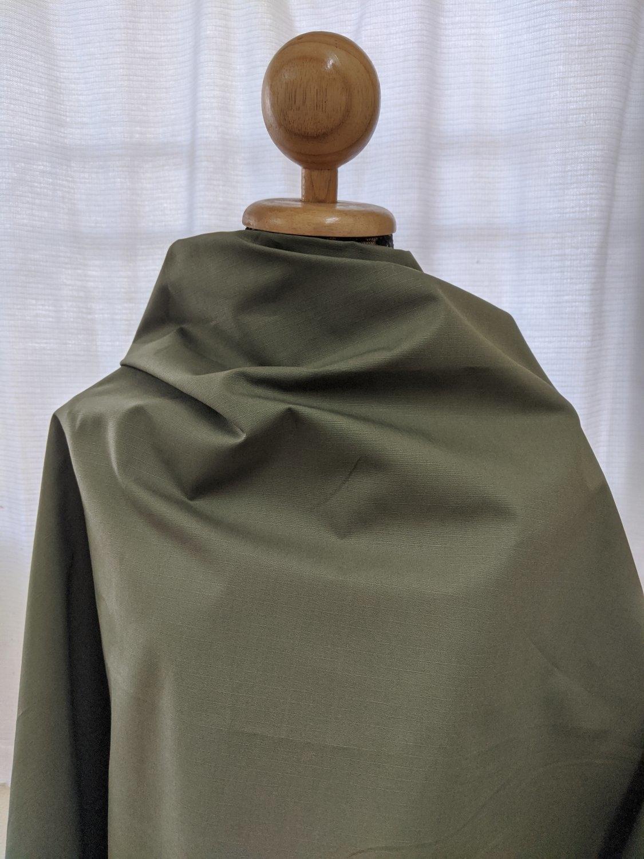 ผ้า RipStop สีพื้น Olive & Dark Olive
