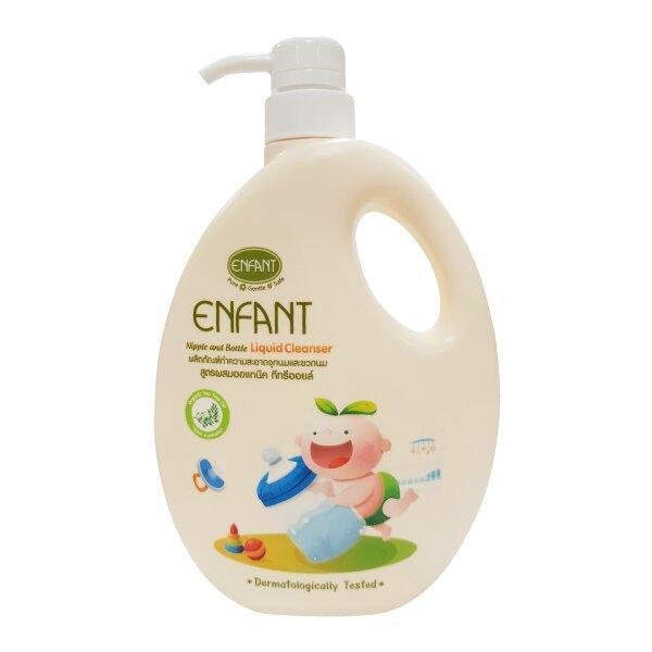 (ซื้อขวด แถม ถุงเติม)ผลิตภัณฑ์ทำความสะอาดจุกนมและขวดนม สูตร Double Cleanser